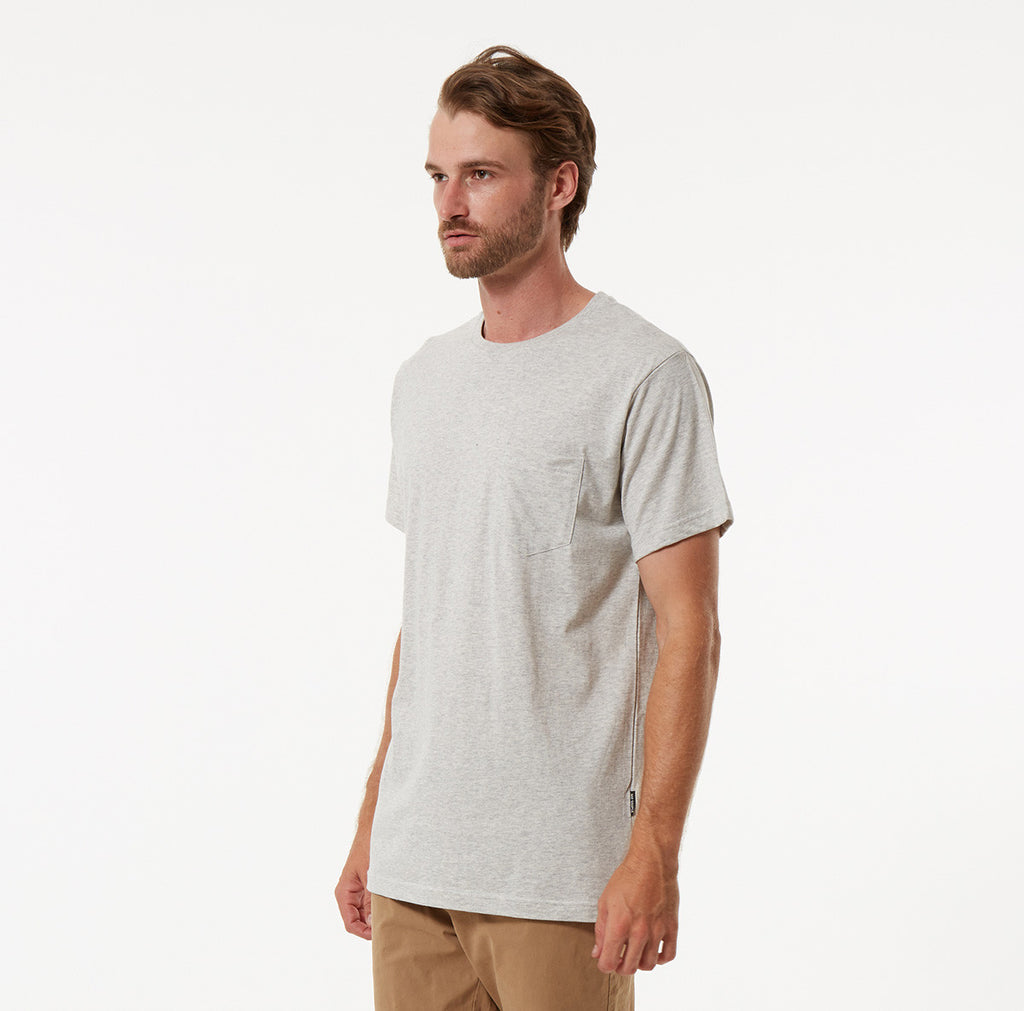 FLETCHER POCKET TEE Mr Simple Fletcher Pocket Tee - Natural Marle. Autumn 2016 Collection. Menswear. Online Store. www.mrsimple.com.au Mr Simple