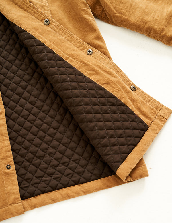 Quilted Cord Jacket - Tobacco