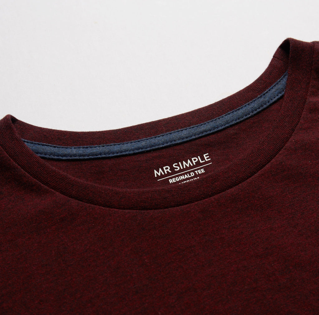 REGINALD BURGUNDY TEE REGINALD BURGUNDY TEE Mr Simple
