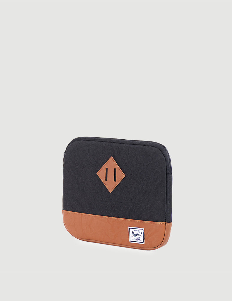 Heritage Sleeve for iPad Air - Black/Tan Synthetic Leather