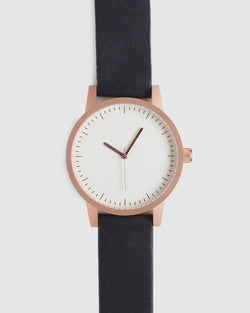 Kent 38mm Watch - Black/White/Gold