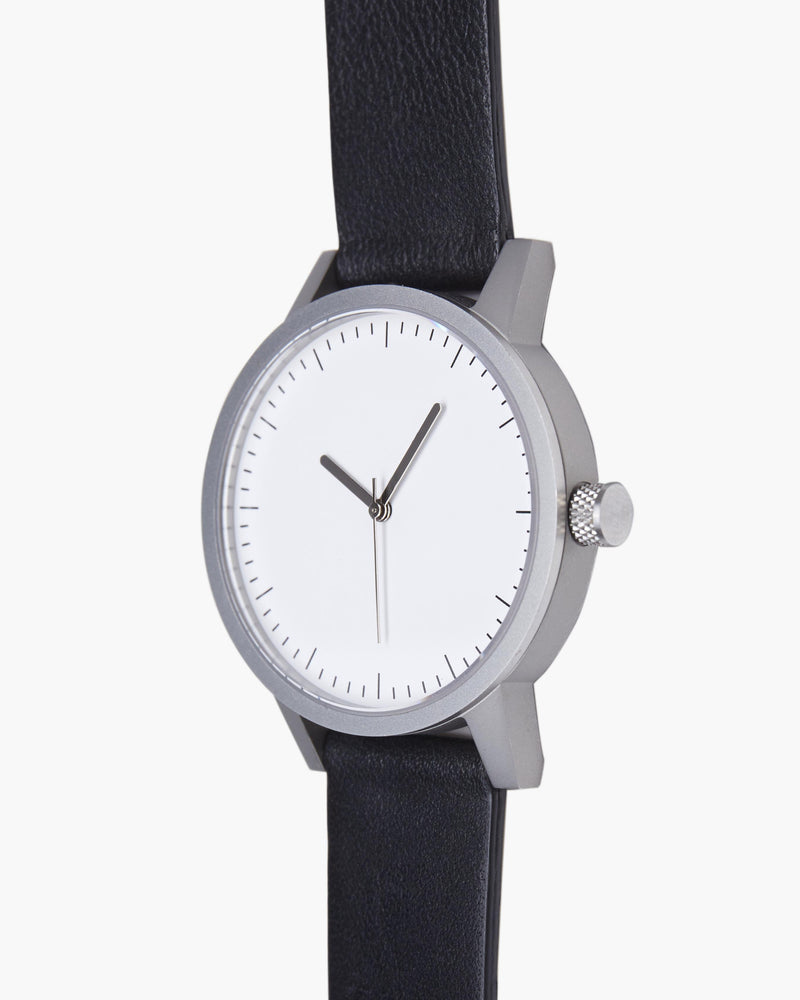 Kent 38mm Watch - Black/White/Silver