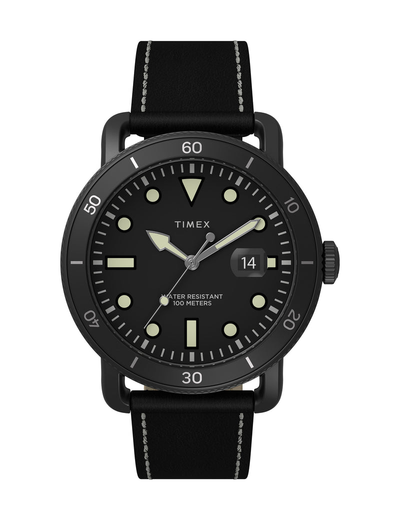 Timex Port 42mm Military Black Case Black Dial Black Strap