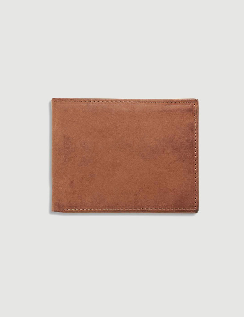 Wallace Leather Wallet - Brushed Tan Wallace Leather Wallet - Brushed Tan Mr Simple