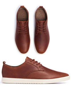 Clae Ellington Leather Shoes - Chestnut