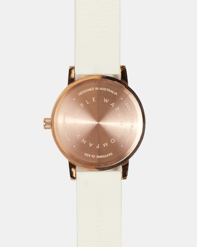 Earl 42mm Watch - White/Gold