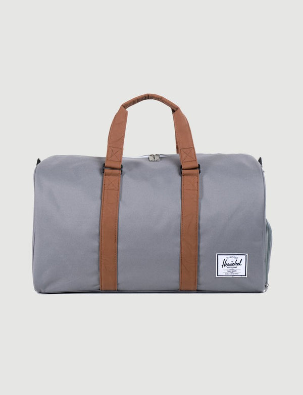 Herschel Novel Duffle - Grey/Tan Synthetic Leather