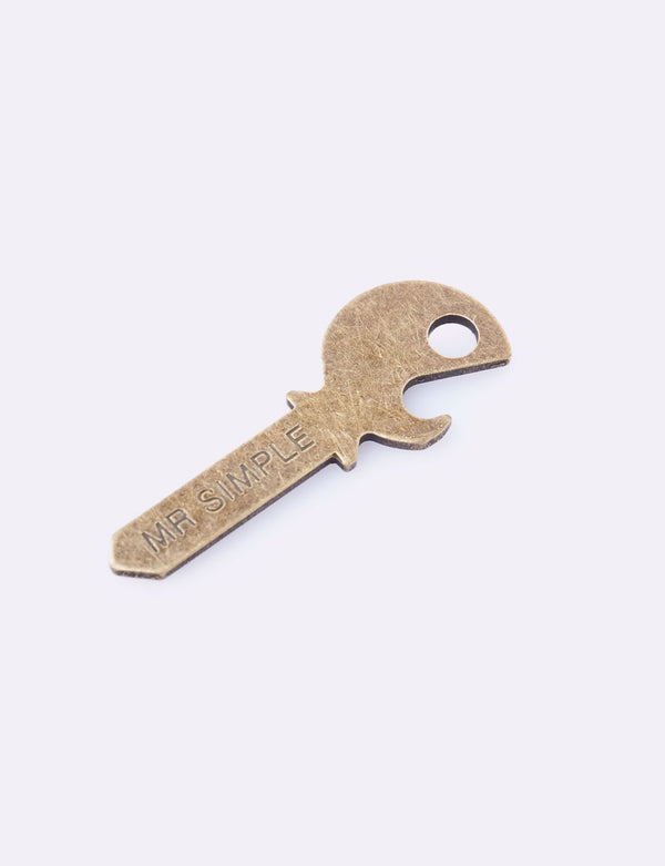 Bottle Opener Key - Brass