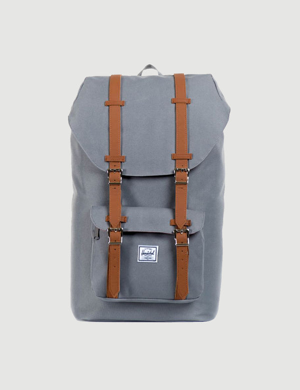 Herschel Little America Backpack - Grey/Tan Synthetic Leather