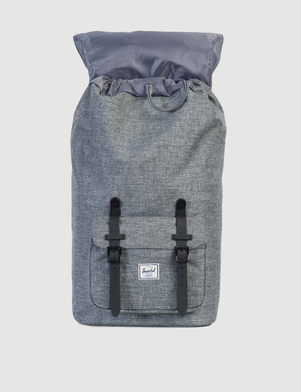 Herschel Little America Backpack - Raven Crosshatch/Black Rubber