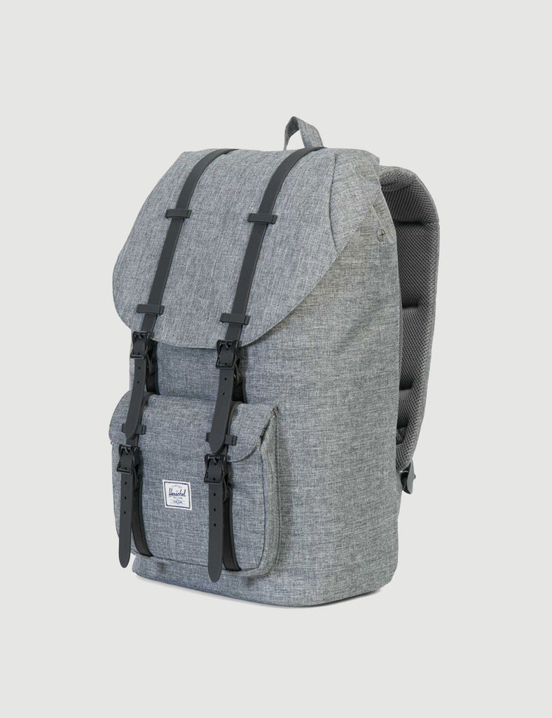 10014-01132-OS-herschel-little-america-backpack-raven-crosshatch-828432122820