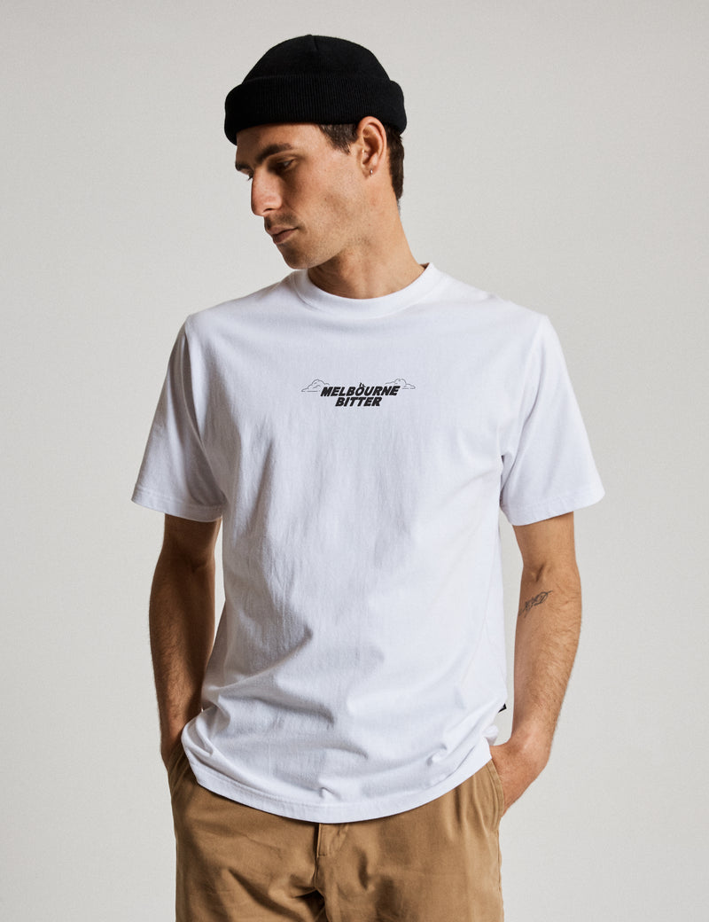 Melbourne Bitter Heavy Weight Pub Tee - White