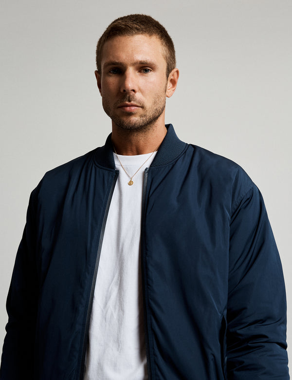 Technical Bomber Jacket - Navy