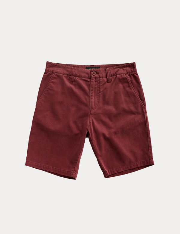 Chino Shorts - Burgundy