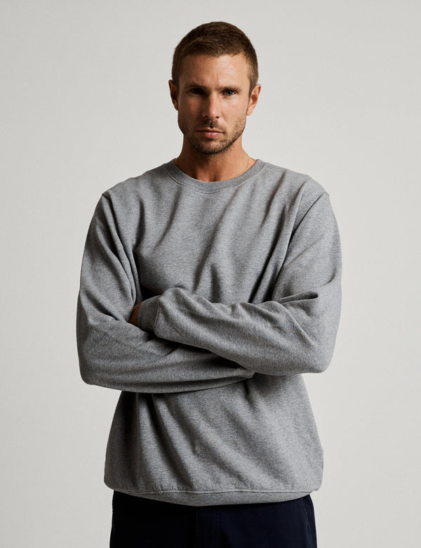 Fair Trade Crew Neck Fleece - Grey Marle