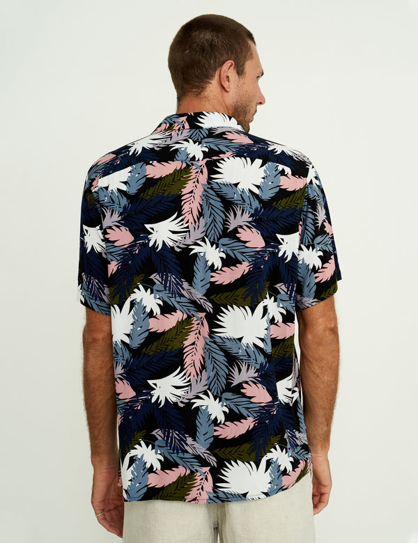 Crystal Cylinders Bowler Shirt - Tropical