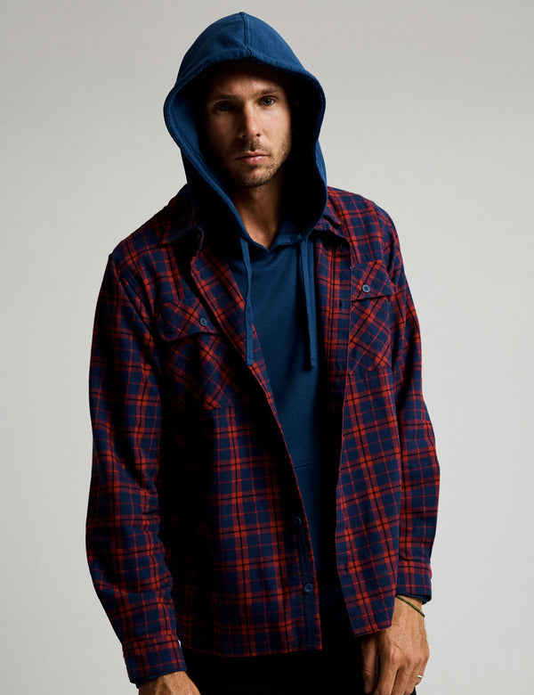 Flannel Long Sleeve Shirt - Red