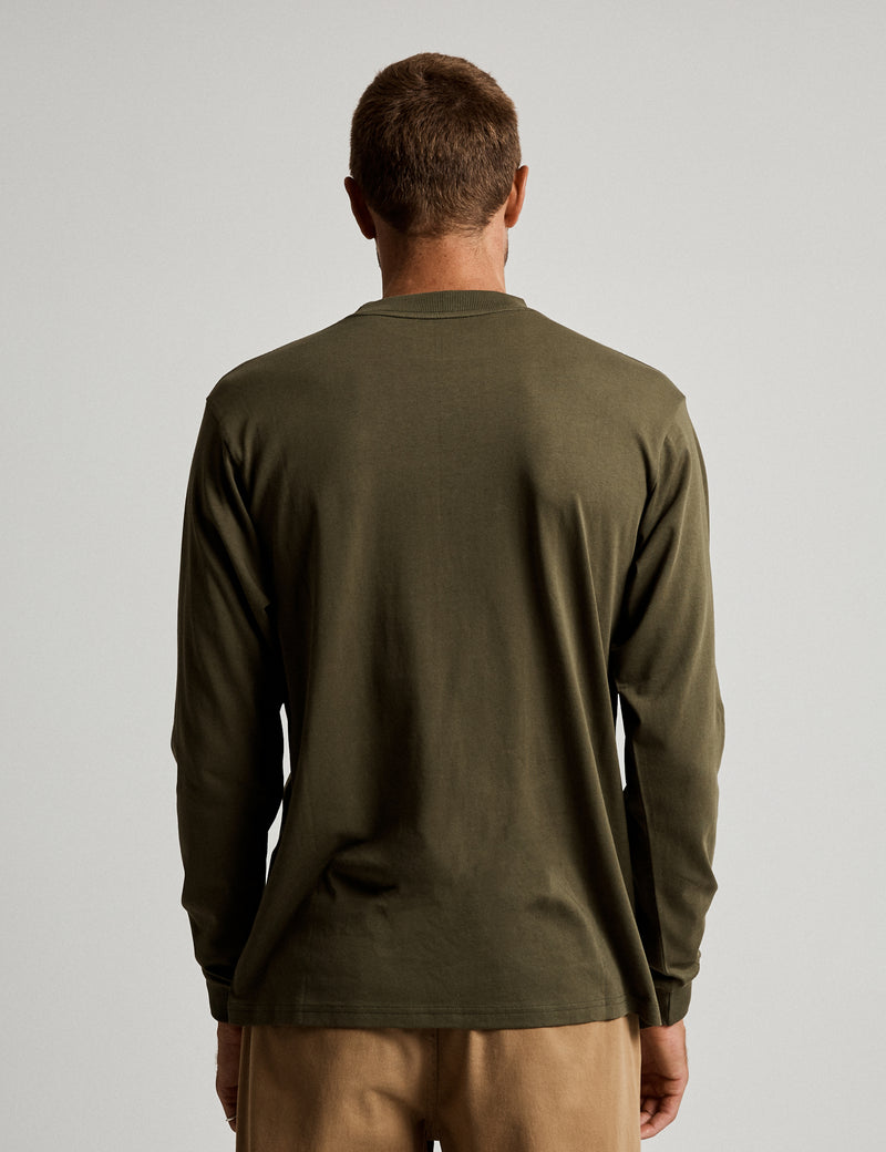 Fair Trade Heavy Weight Longsleeve Tee - Army