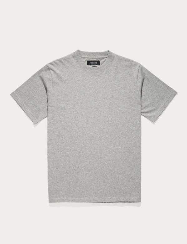 Fair Trade Heavy Weight Tee - Grey Marle