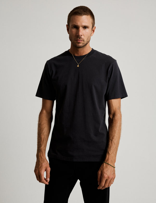 Fair Trade Heavy Weight Tee - Washed Black