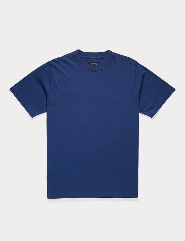 Fair Trade Heavy Weight Tee - Washed Indigo
