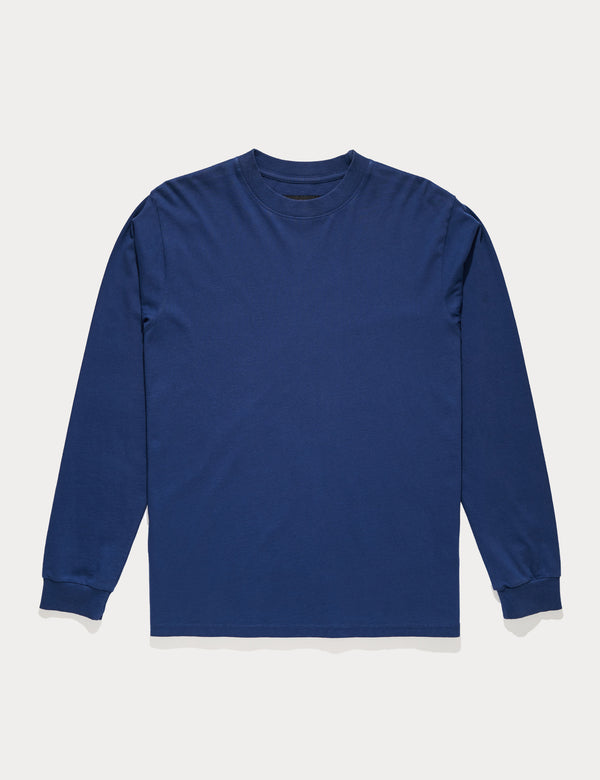 Fair Trade Heavy Weight Longsleeve Tee - Washed Indigo