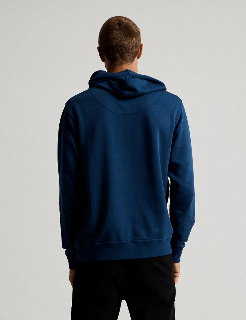 Fair Trade Pop Over Hood - Washed Indigo