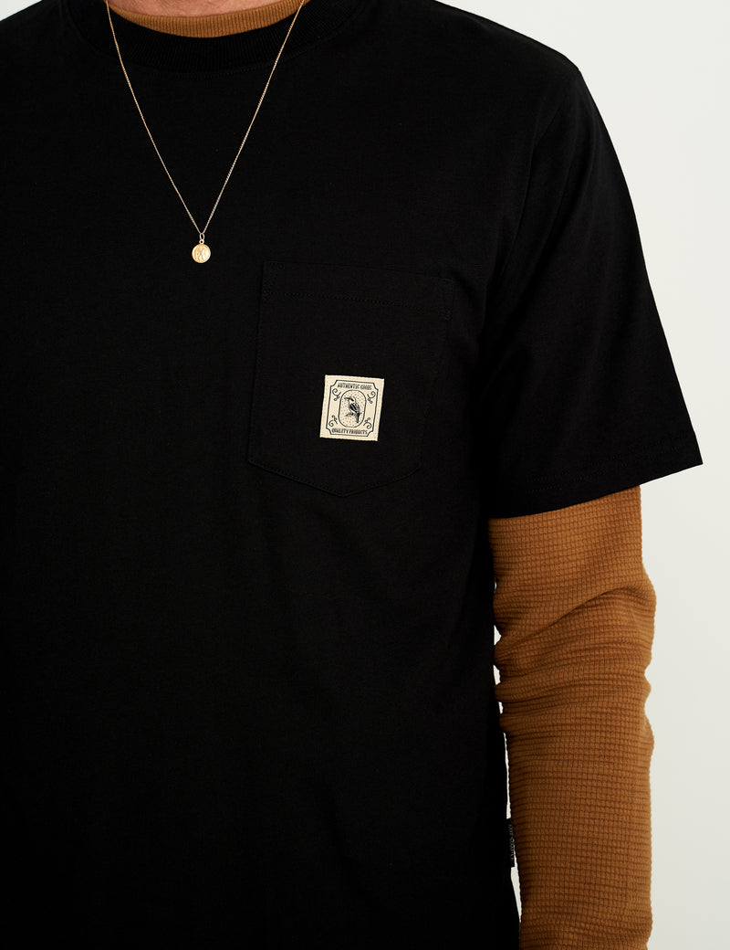 Fair Trade Heavy Weight Pocket Tee - Black