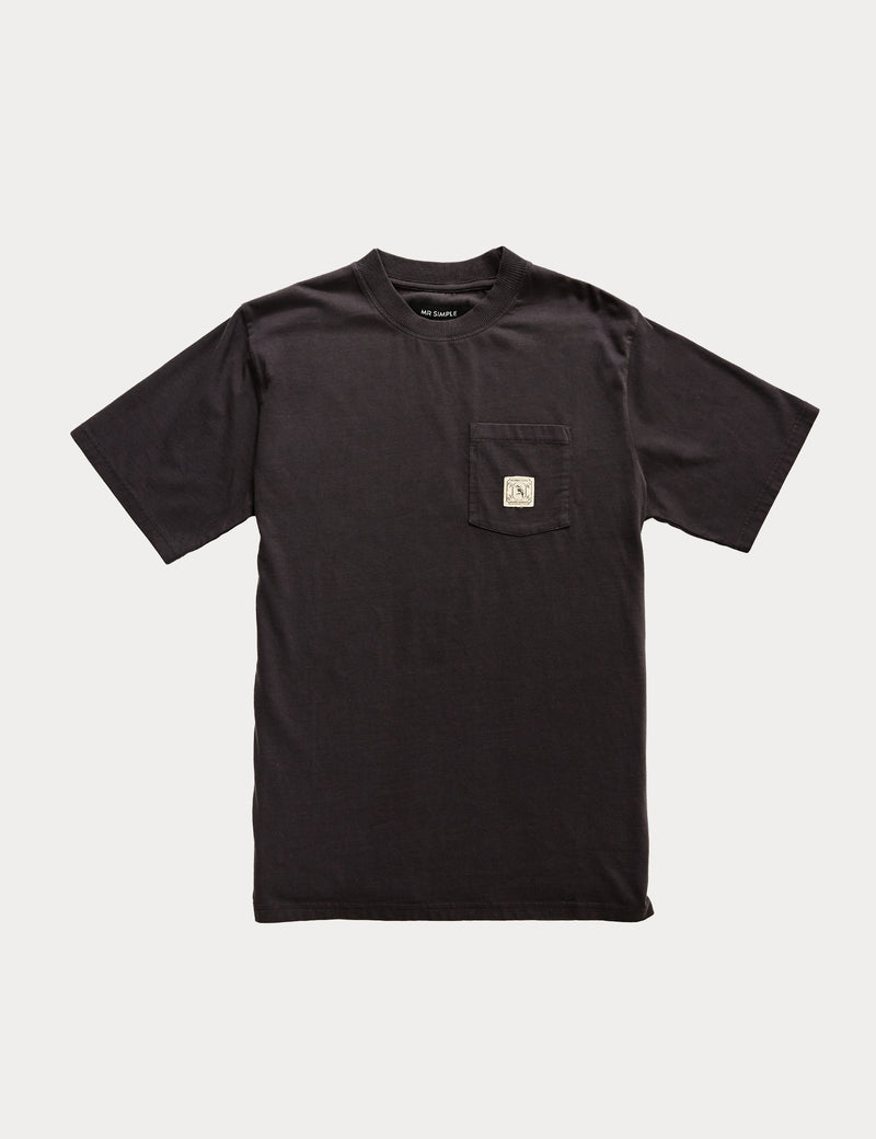 Fair Trade Heavy Weight Pocket Tee - Washed Black