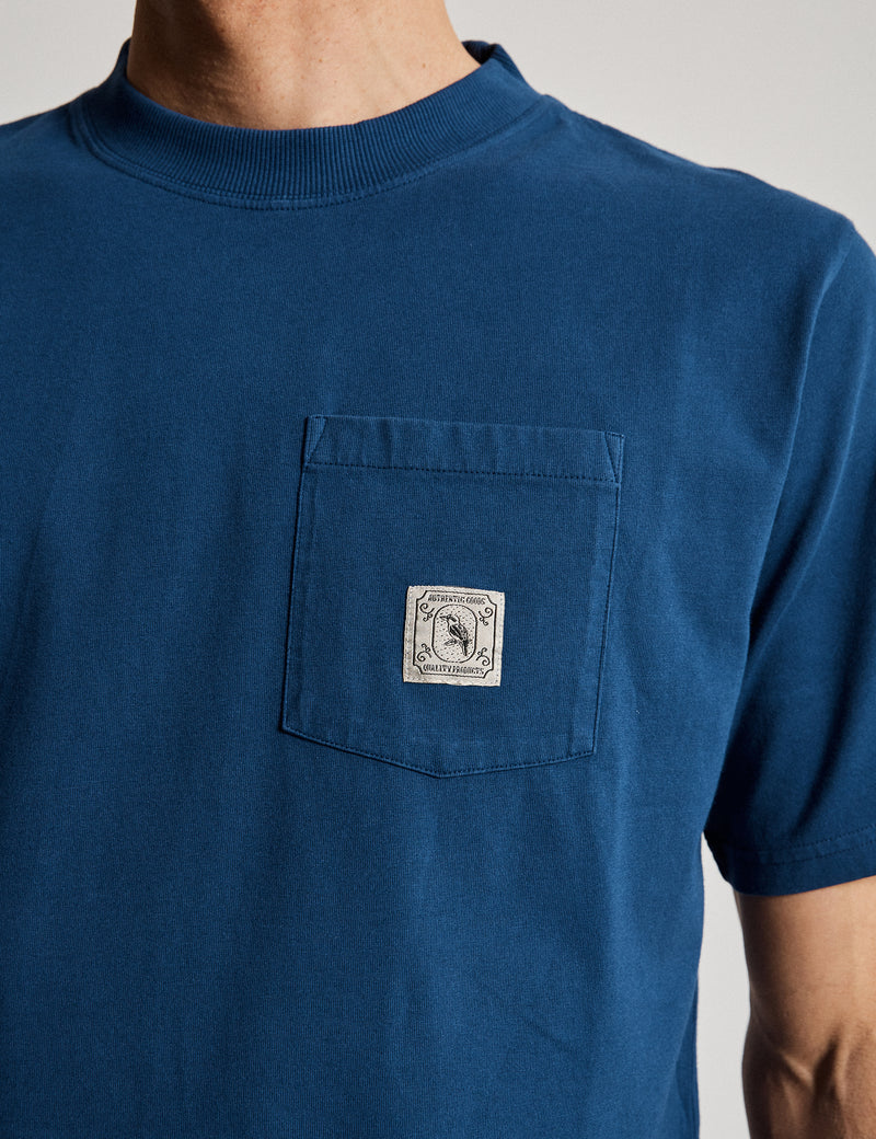 Fair Trade Heavy Weight Pocket Tee - Washed Indigo