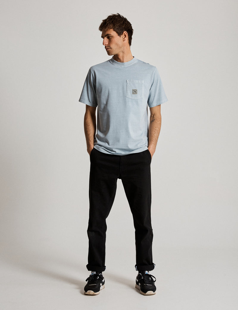 Fair Trade Heavy Weight Pocket Tee - Washed Mist