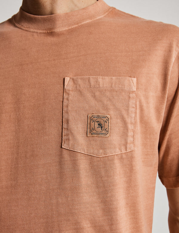 Fair Trade Heavy Weight Pocket Tee - Washed Ochre