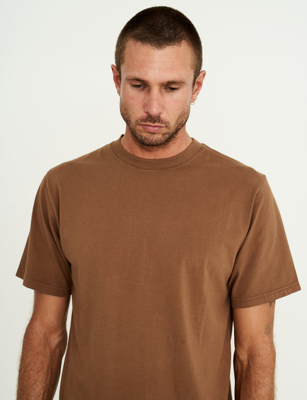Fair Trade Heavy Weight Tee - Washed Brown