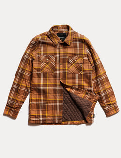 Quilted Flannel Jacket - Brown