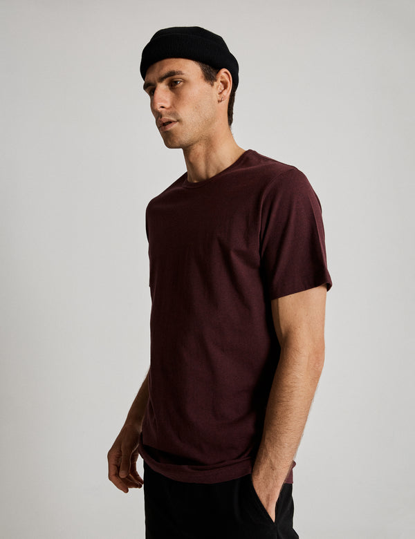Reginald Tee - Burgundy Marle