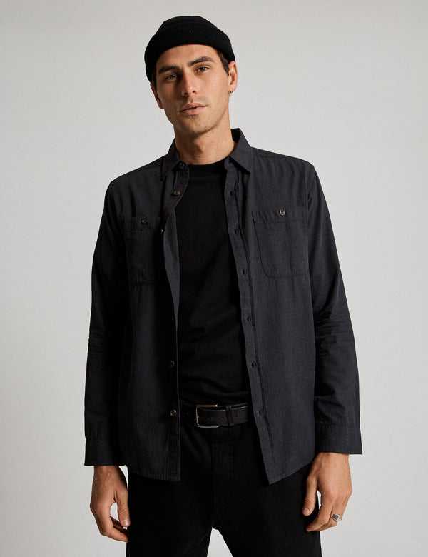 Fair Trade Soft Cotton Long Sleeve Shirt - Black