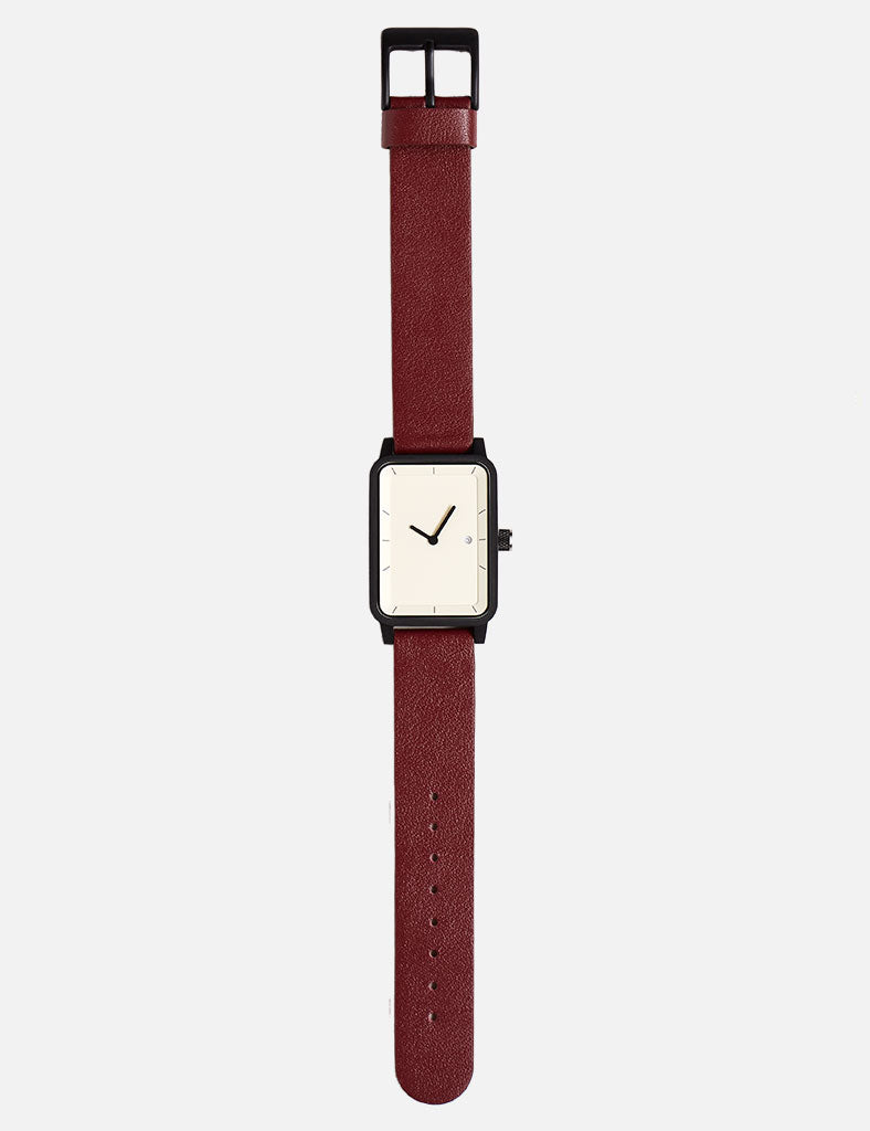 #3 Watch 38mm - Burgundy/White/Black