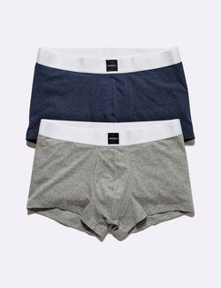 Fitted Brief 2 Pack - Navy Marle/Grey Marle