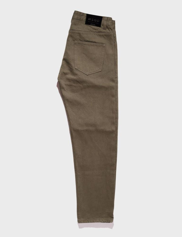 Straight Fit Denim - Olive