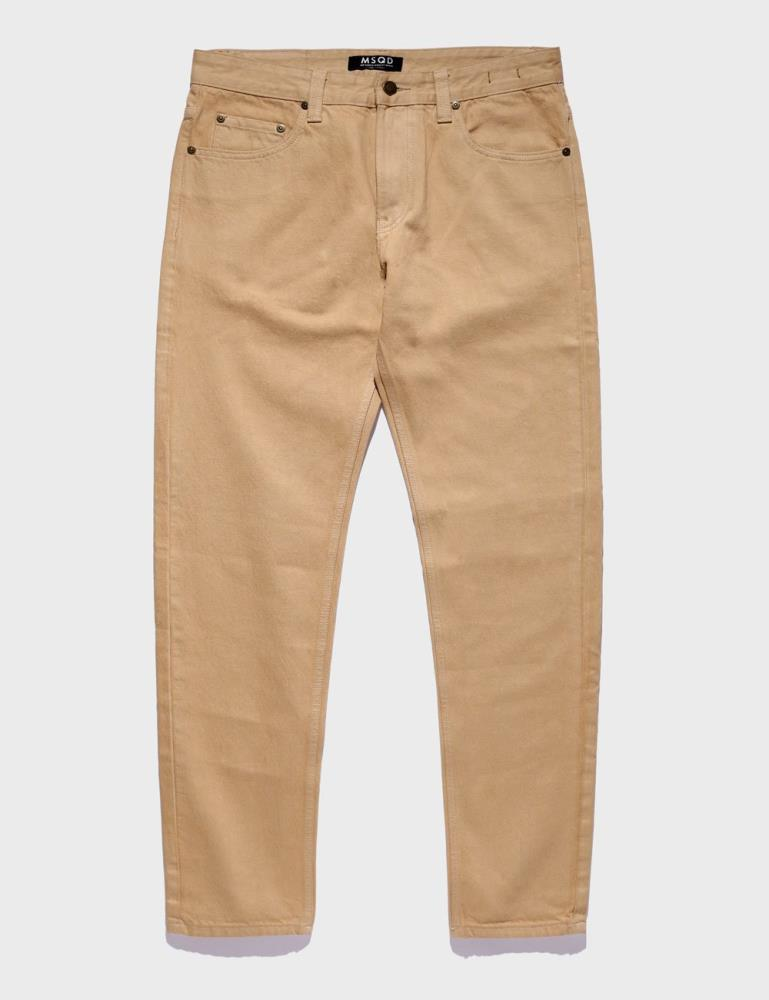 Straight Fit Denim - Sand