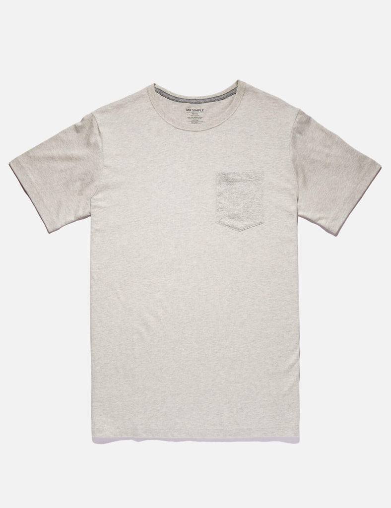 Fletcher Pocket Tee - Natural Marle Fletcher Pocket Tee - Natural Marle Mr Simple