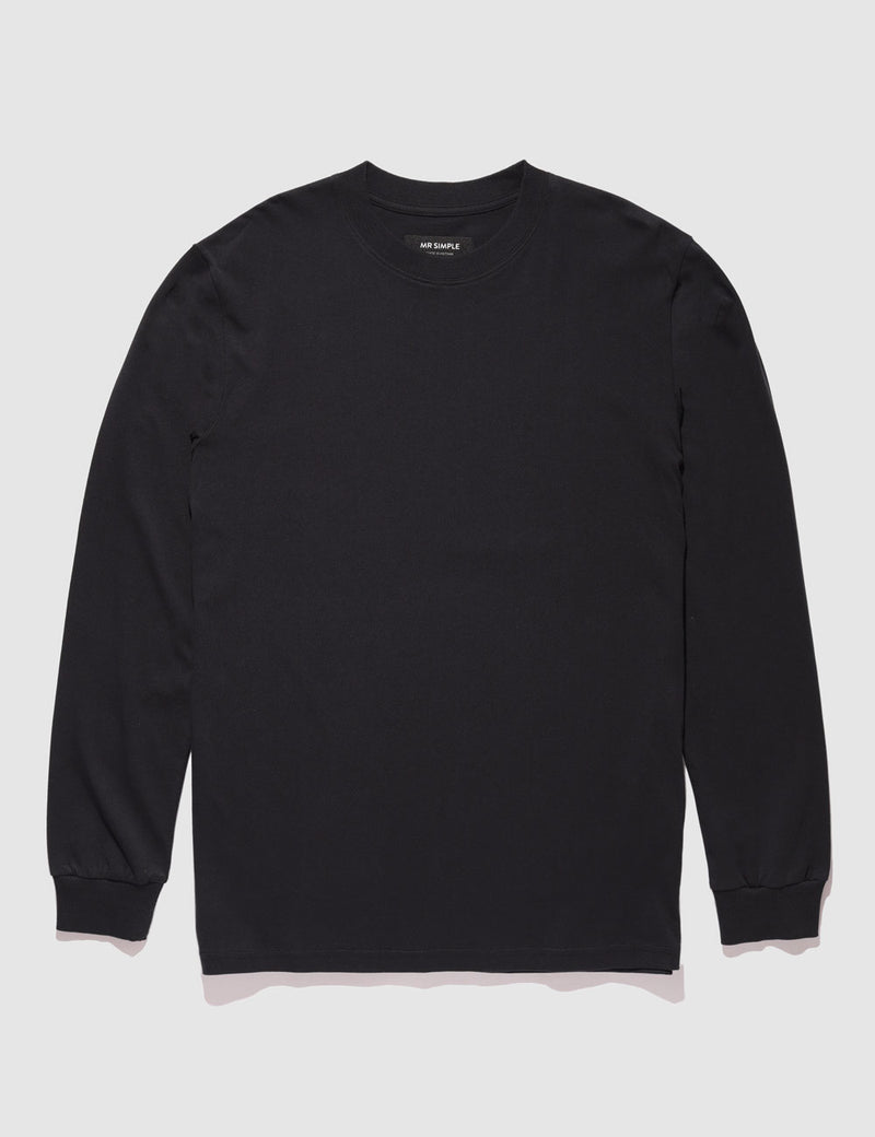Heavy Weight Longsleeve Tee - Black