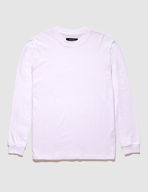 Heavy Weight Longsleeve Tee - White