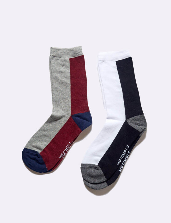 Hollis Socks 2 Pack - Colour Block 2