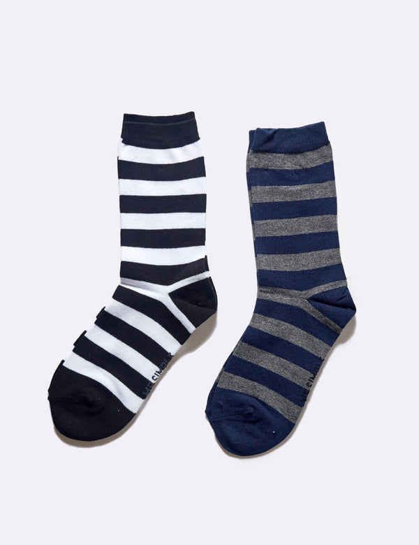 Hollis Socks 2 Pack - Bold Stripe