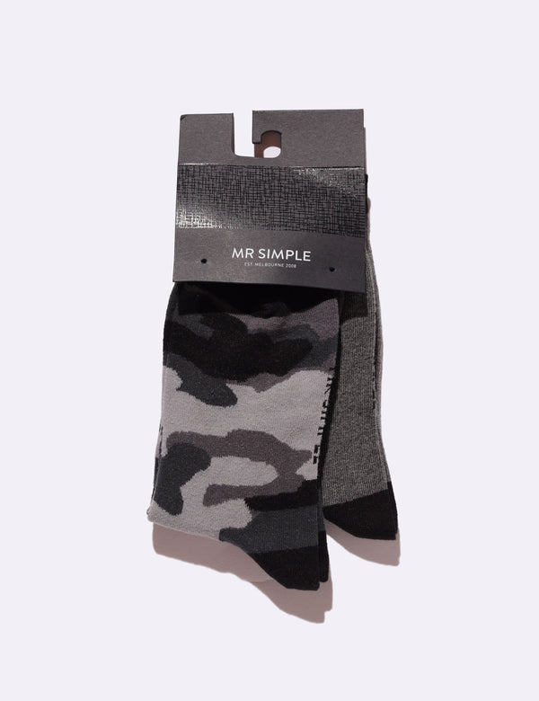 Hollis Socks 2 Pack - Camo