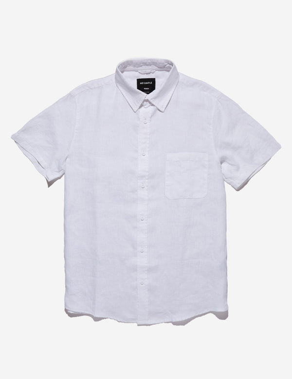Linen Short Sleeve - White