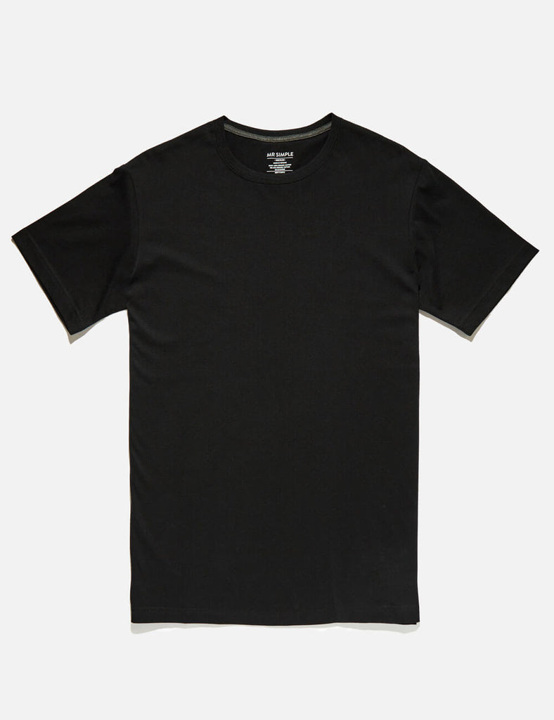reginald black tee reginald black tee Mr Simple