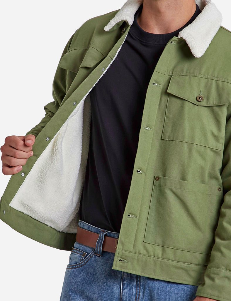 canvas sherpa jacket canvas sherpa jacket Mr Simple