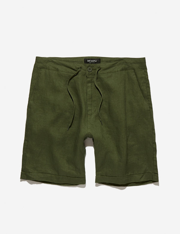 Tanner Linen Shorts - Fatigue
